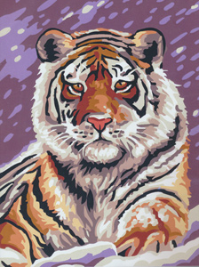 Royal Paris Tiger in the Snow Needlepoint Kit