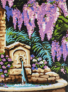 Royal Paris Les Glycines (Wisteria)  Needlepoint Canvas or Kit