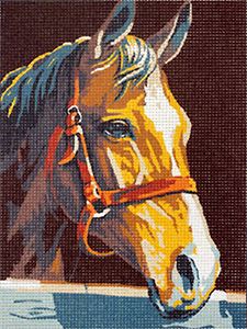 Royal Paris Horse Portrait Needlepoint Canvas or Kit