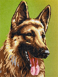 Royal Paris German Shepherd Portrait Needlepoint Canvas or Kit