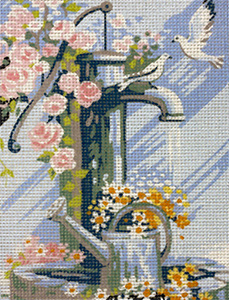 Royal Paris The Old Water Pump  Needlepoint Canvas or Kit
