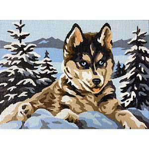 Royal Paris Husky Needlepoint Canvas or Kit