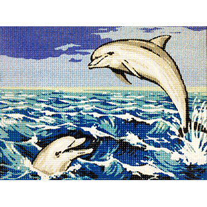 Royal Paris Water Sports Needlepoint Canvas or Kit