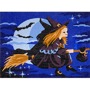 Royal Paris The Witch Needlepoint Canvas or Kit