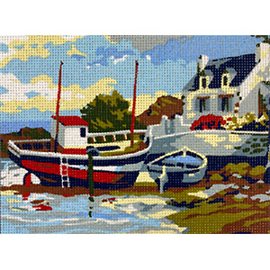 Royal Paris Home of the Fisherman Needlepoint Canvas or Kit