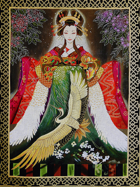 Xin Xin Hand Painted Needlepoint Canvas