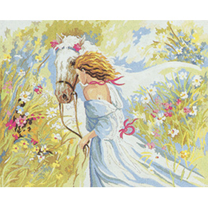 White Beauty  - Collection d'Art Needlepoint Canvas
