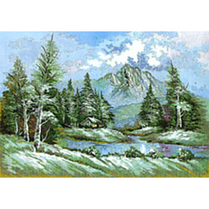 The Mountain Home  - Collection d'Art Needlepoint Canvas