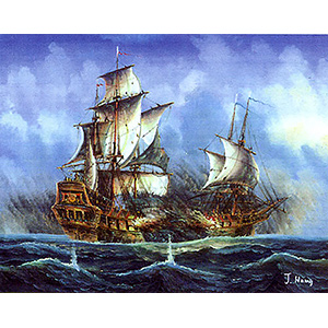 The Stormy Seas  - Collection d'Art Needlepoint Canvas