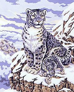 Snow Leopard  - Collection d'Art Needlepoint Canvas