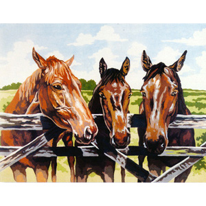 Three Amigos  - Collection d'Art Needlepoint Canvas