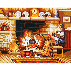 Near the Hearth II  - Collection d'Art Needlepoint Canvas