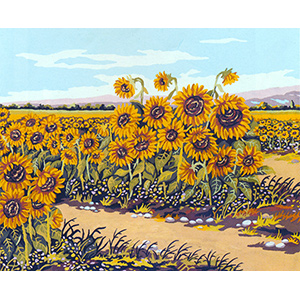 Sunflower Field  - Collection d'Art Needlepoint Canvas