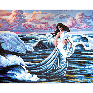 The Waves  - Collection d'Art Needlepoint Canvas
