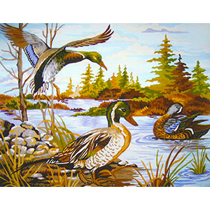 The Duck Pond  - Collection d'Art Needlepoint Canvas