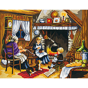 Close to the Hearth  - Collection d'Art Needlepoint Canvas