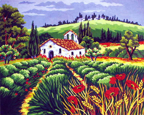 View in Provence  - Collection d'Art Needlepoint Canvas