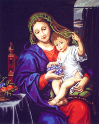 Madonna and Child - Classic - Collection d'Art Needlepoint Canvas