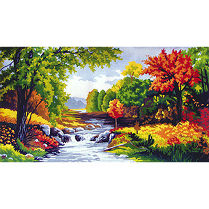 Autumn on the Brook - Collection d'Art Needlepoint Canvas