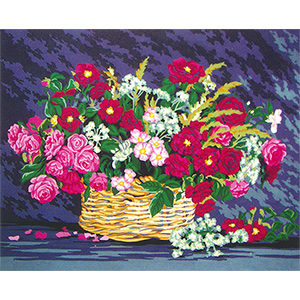 Basket of Flowers  - Collection d'Art Needlepoint Canvas