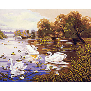 Swan Lake  - Collection d'Art Needlepoint Canvas