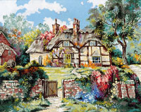 English Cottage  - Collection d'Art Needlepoint Canvas