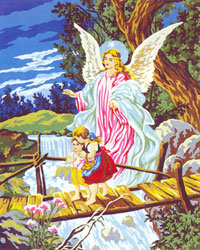 Guardian Angel II  - Collection d'Art Needlepoint Canvas