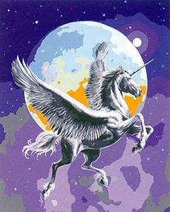Pegasus in a Full Moon  - Collection d'Art Needlepoint Canvas