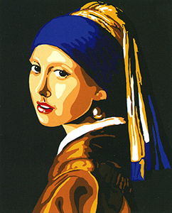 Girl With the Pearl Earring  - Collection d'Art Needlepoint Canvas