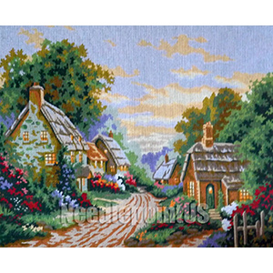 Evening on the Village Lane  - Collection d'Art Needlepoint Canvas