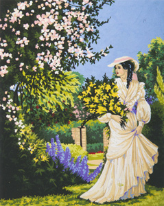 Garden Stroll  - Collection d'Art Needlepoint Canvas