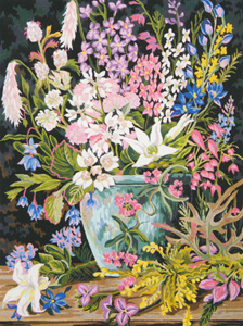 Wildflowers II - Collection d'Art Needlepoint Canvas