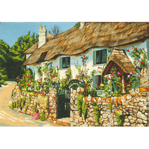 Thatched Cottage  - Collection d'Art Needlepoint Canvas