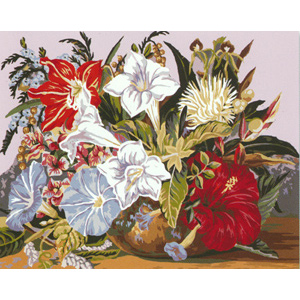 Tropical Posy  - Collection d'Art Needlepoint Canvas