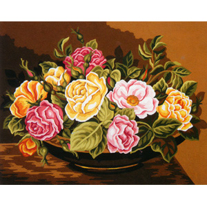 Rose Bowl  - Collection d'Art Needlepoint Canvas