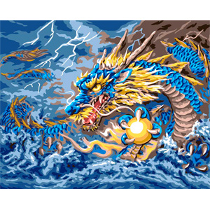 Mythical Dragon  - Collection d'Art Needlepoint Canvas