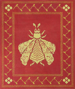 Napoleon's Bee Pillow or Picture - Coral and Butter