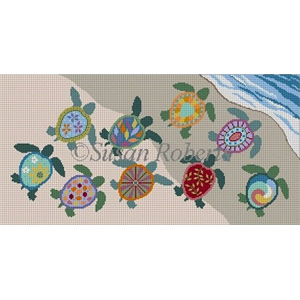 Susan Roberts Needlepoint Designs - Painted Turtles First Swim