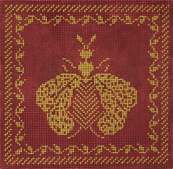 Napoleon's Bee Box Square - Burgundy and Gold
