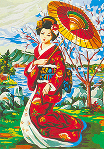Geisha  - Collection d'Art Needlepoint Canvas