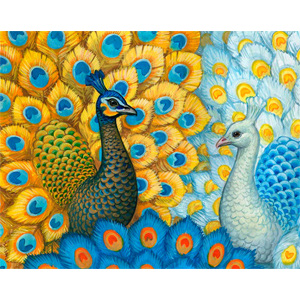 Exotic Peacocks - Collection d'Art Needlepoint Canvas