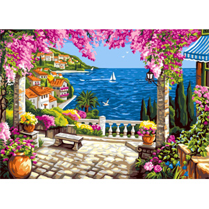 Riviera Dream - Collection d'Art Needlepoint Canvas
