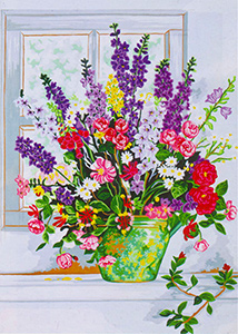 Bouquet  - Collection d'Art Needlepoint Canvas