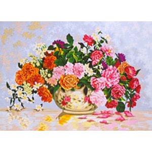 Bowl of Flowers - Collection d'Art Needlepoint Canvas