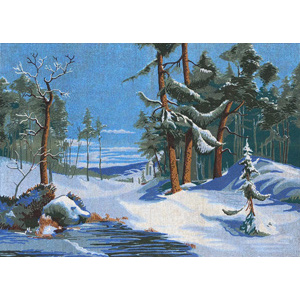 Winter on the Stream - Collection d'Art Needlepoint Canvas