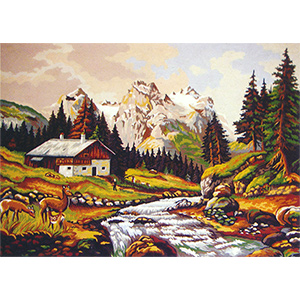 Mountain Stream II  - Collection d'Art Needlepoint Canvas
