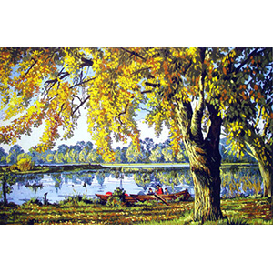 River Scene  - Collection d'Art Needlepoint Canvas