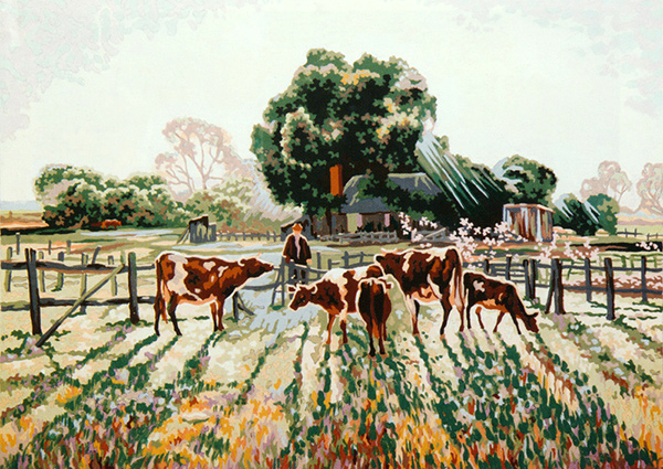 Feeding Time on the Farm - Collection d'Art Needlepoint Canvas