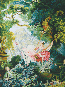 The Swing by Fragonard - Collection d'Art Needlepoint Canvas