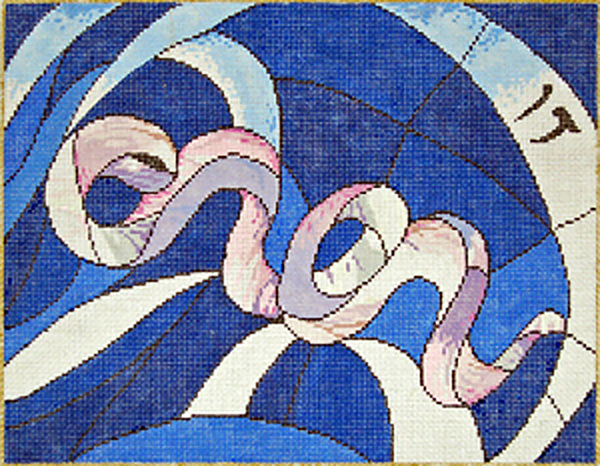 Dan - Stitch Painted Needlepoint Canvas from Sandra Gilmore